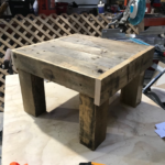 Custom Rainbarrel Table from Refurbished Pallet